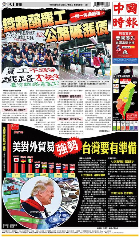 中國時報 2016年12月9日